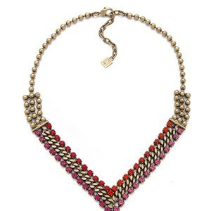 Dannijo Red and Pink Hallie Necklace